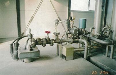 温水施設用井戸 地上部配管設備